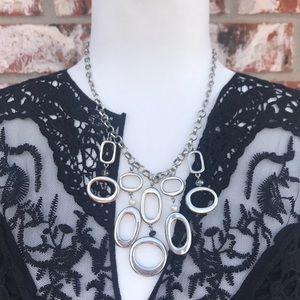 WHBM Modern geometric statement necklace